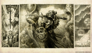 Dakkon Blackblade Sketch Playmat - Richard Kane Ferguson Flipside Exclusive