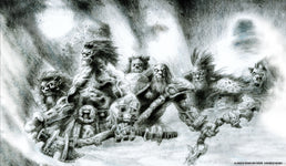 Orc Horde Sketch Playmat - Richard Kane Ferguson Flipside Exclusive