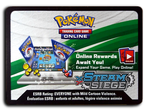 Pokemon TCG Online Steam Siege Booster Pack Code
