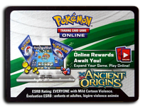 Pokemon TCG Online Ancient Origins Booster Pack Code