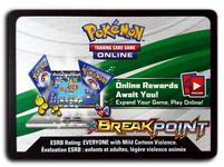 Pokemon TCG Online BreakPoint Booster Pack Code