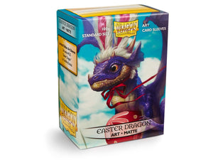 Limited Edition Easter Dragon Art Matte Dragon Shield Sleeves 100ct.