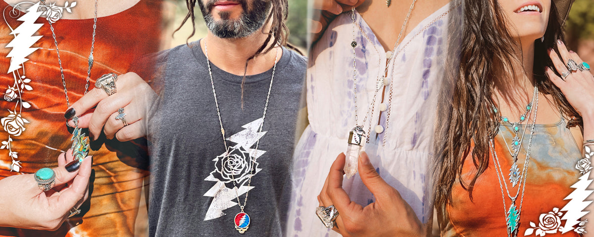 Rose & Bolt Officially Licensed Grateful Dead Jewelry Collection by Designer Sarah Lewis