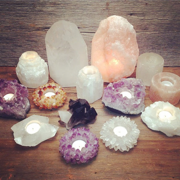 Crystal Points Candleholder | Amethyst | Tribe | Bohemian Home Decor