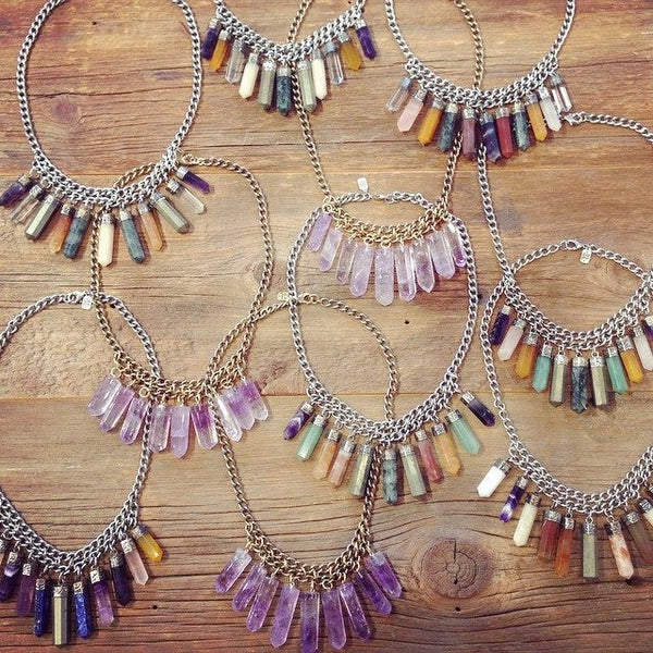 Cali Crystal Necklace | Amethyst