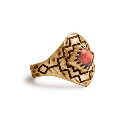 Four Winds Ring | Gold / Coral