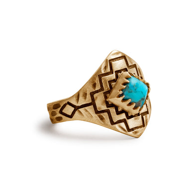 Four Winds Ring | Gold / Turquoise