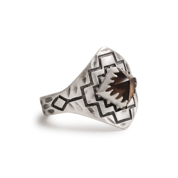 Four Winds Ring | Silver / Smokey Quartz| TRIBE Jewelry