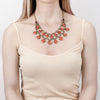 Afia Collar Necklace | Coral | Tribe Gathered Collection | Afghanistan | Gypsy Jewelry