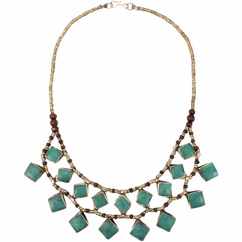 Afia Collar Necklace | Turquoise | Tribe Gathered Collection | Afghanistan | Gypsy Jewelry