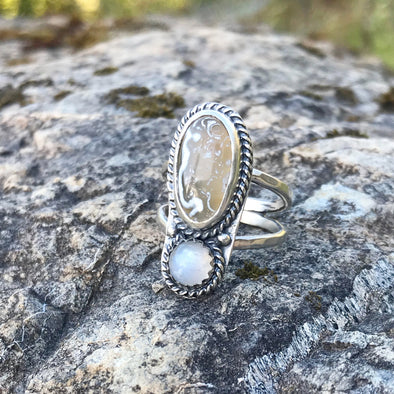 Beach Agate Ring