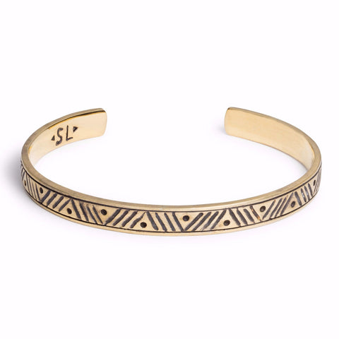 Stacking Cuff | Chevron / Gold | TRIBE Jewelry