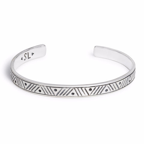 Stacking Cuff | Chevron | Silver | TRIBE Jewelry