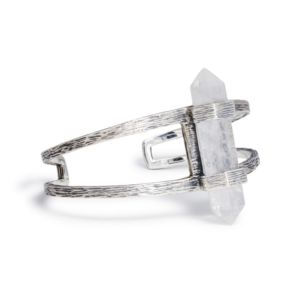 Forest Crystal Cuff | Silver / Quartz | TRIBE Jewelry