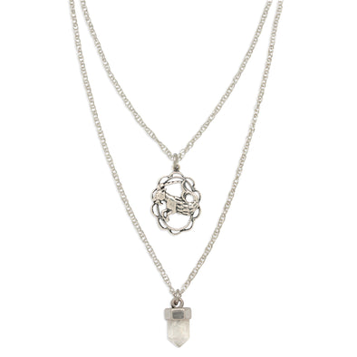 ZODIAC CRYSTAL CHARM NECKLACE | CAPRICORN