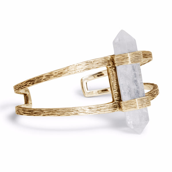 Forest Crystal Cuff | Gold / Quartz | TRIBE Jewelry