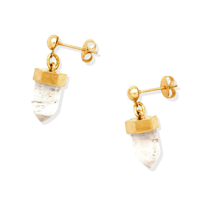 CRYSTAL POST EARRINGS | GOLD
