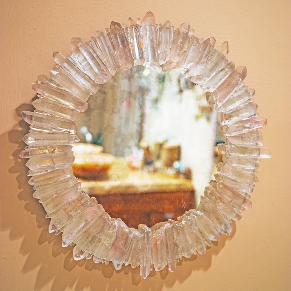 Crystal Framed Mirror