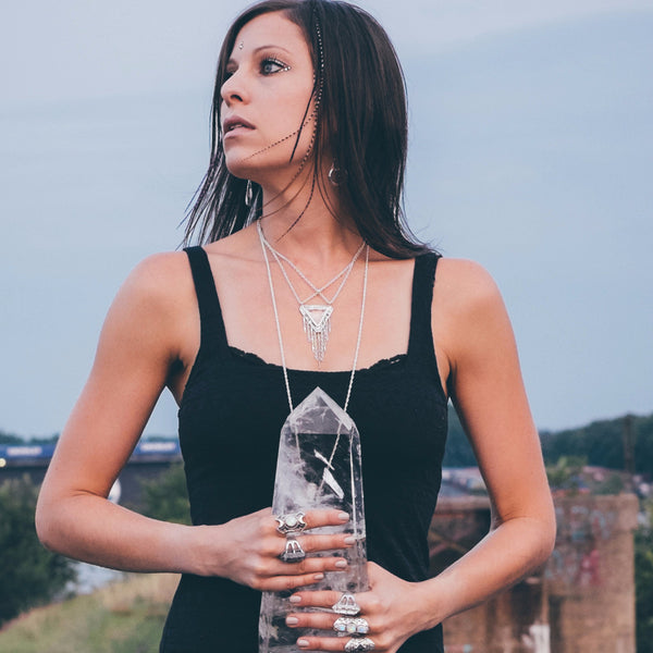 Days to Come Necklace | Silver / Quartz Crystal | TRIBE JEWELRY