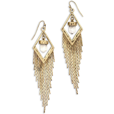 Crystal Drifter Earrings | Gold