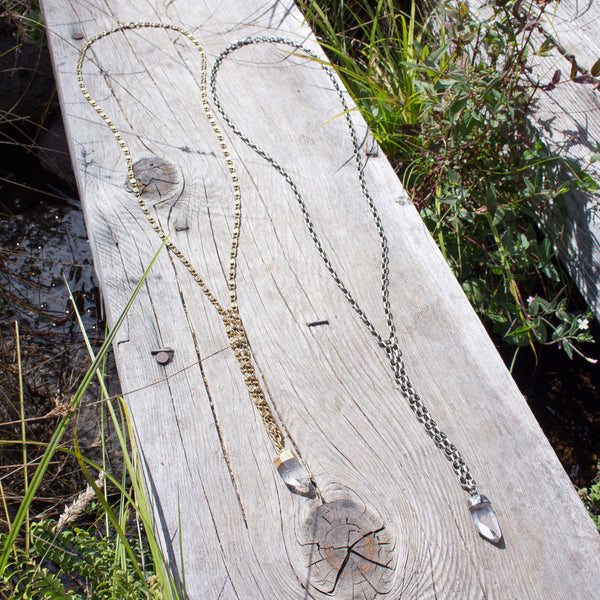 Easy Rider Necklace | Gold / Quartz | TRIBE Jewelry