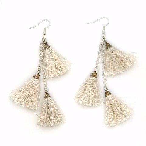 Fiesta Earring | Silver / Ivory | TRIBE Jewelry by Sarah Lewis
