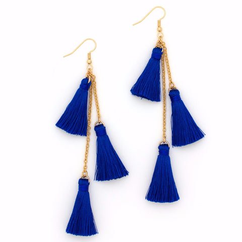 Fiesta Earring | Gold / Blue Lapis | TRIBE Jewelry by Sarah Lewis