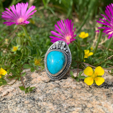 Turquoise Butterfly Ring ~ 2