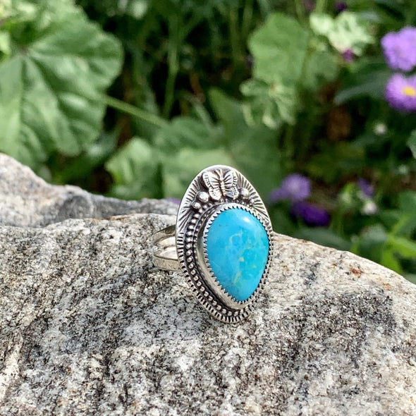 Turquoise Butterfly Ring ~ 3