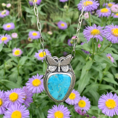 Turquoise Butterfly Necklace ~ 1