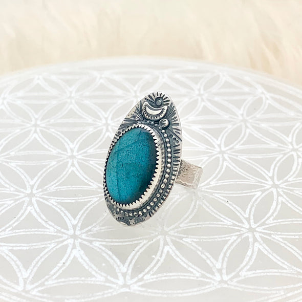 Labradorite Love Ring ~ 3