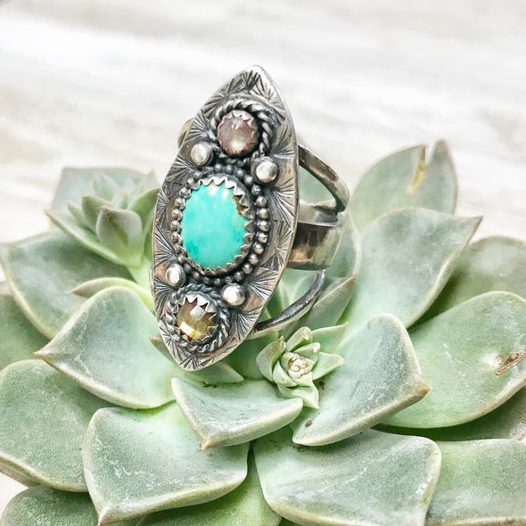 Three Stone Statement Ring