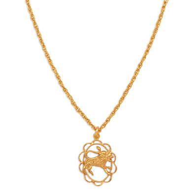 ZODIAC CHARM NECKLACE | LEO