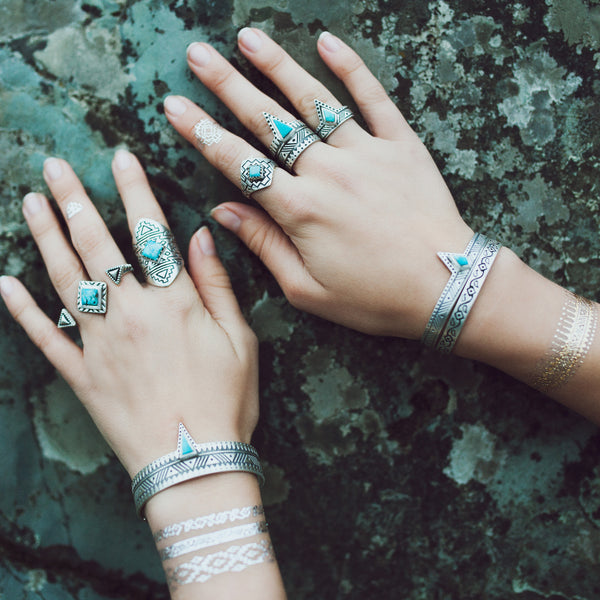 Four Winds Ring | Silver / Turquoise | TRIBE Jewelry