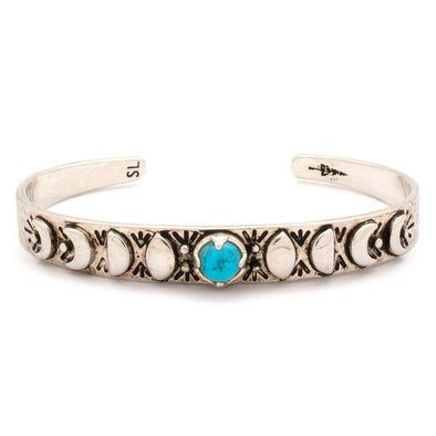 Mini Moon Phases Cuff Bracelet | Turquoise