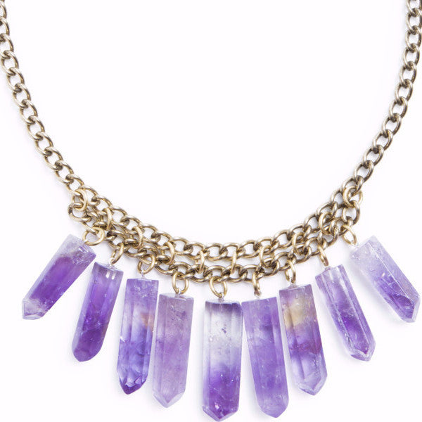 Cali Crystal Necklace | Amethyst | TRIBE Jewelry