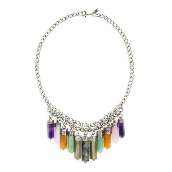 Cali Crystal Necklace | Multi | TRIBE Jewelry