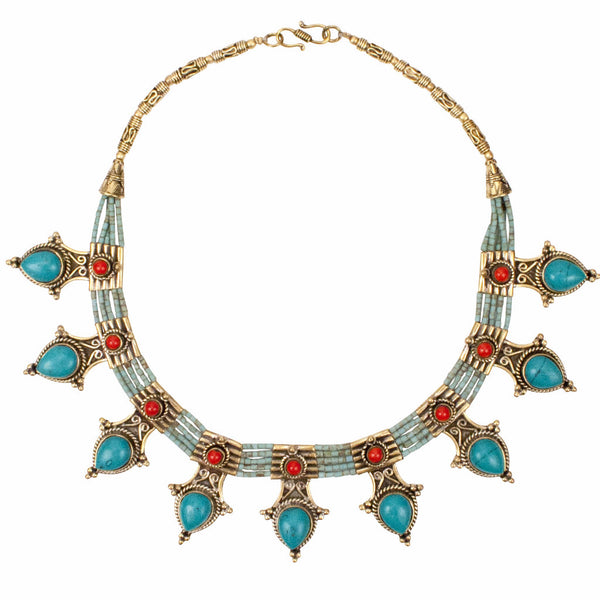 Karma Turquoise Statement Necklace | Tribe Jewelry | Gathered