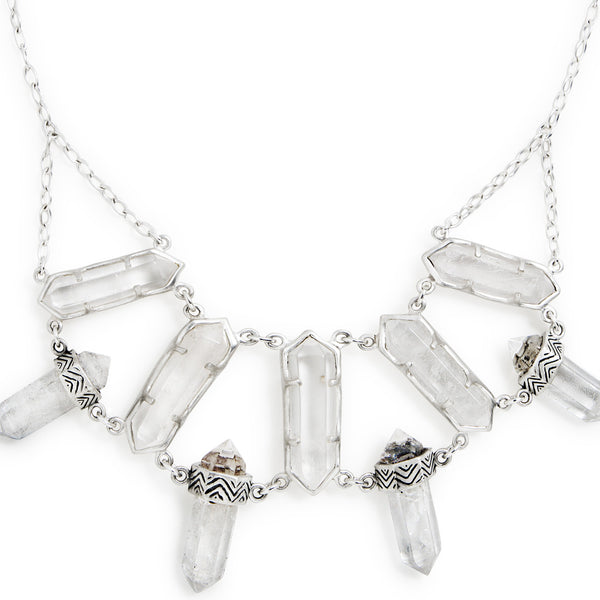 North Star Necklace | Silver / Quartz | TRIBE Jewelry