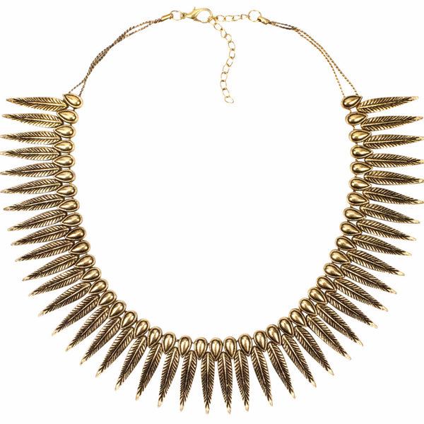 Phoenix Rising Necklace | Tribe Gathered Collection | Statement Gypsy Jewelry | Gold