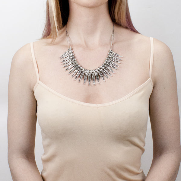 Phoenix Rising Necklace | Tribe Gathered Collection | Statement Gypsy Jewelry | Silver