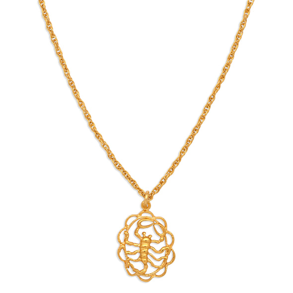 ZODIAC CHARM NECKLACE | SCORPIO