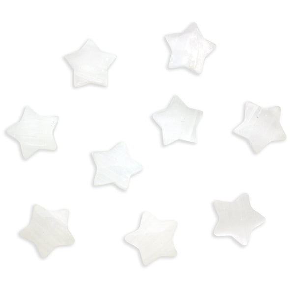 Selenite Crystal Stars ~ Set of 3