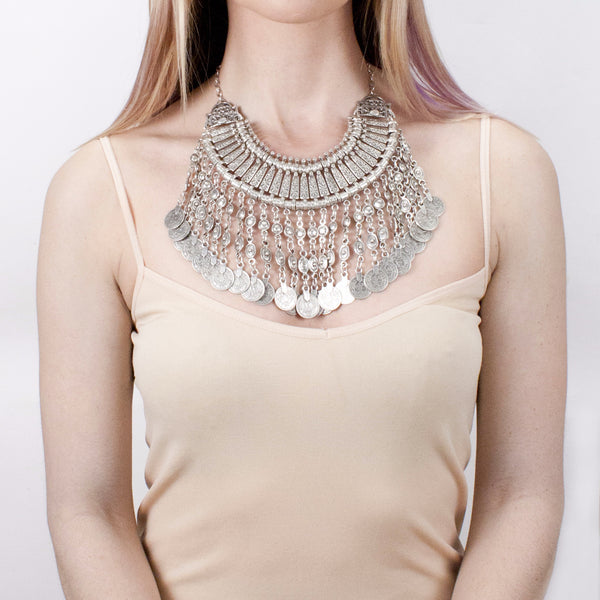 Sena Coined Collar Necklace | Tribe Gathered Collection | Gypsy Jewelry | Turkey