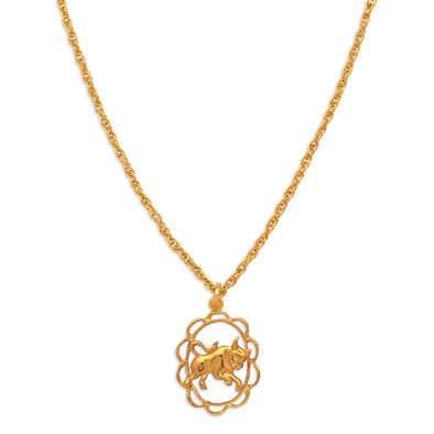 ZODIAC CHARM NECKLACE | TAURUS
