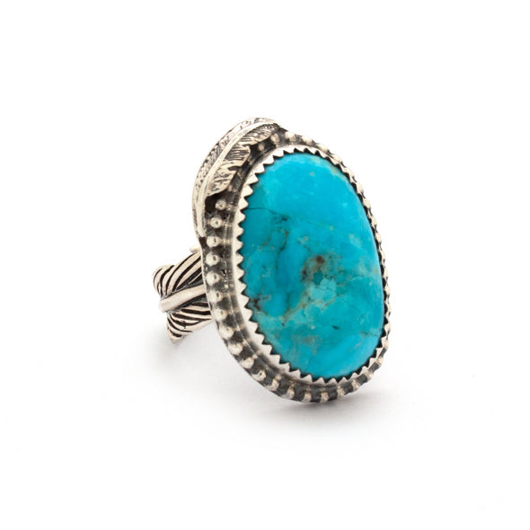 Turquoise Feather Ring Series 1