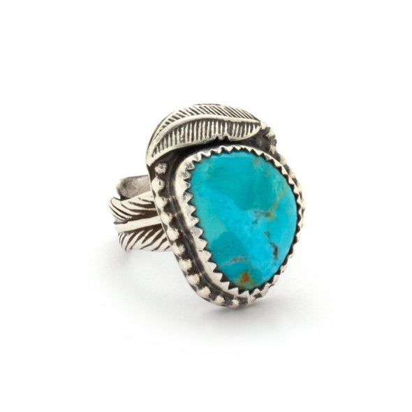Turquoise Feather Ring Series 2
