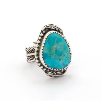Turquoise Feather Ring Series 3
