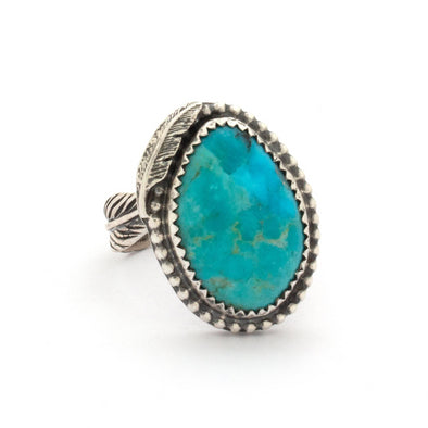 Turquoise Feather Ring Series 4