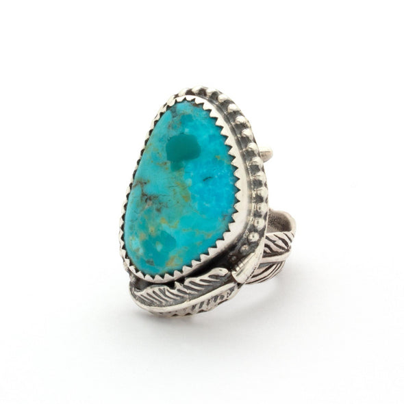 Turquoise Feather Ring Series 5